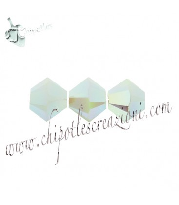 Biconi Swarovski® 5328 4 mm Mint Alabaster AB 2x