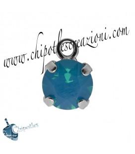 Ciondolo con Chaton Swarovski SS39 Caribbean Blue Opal