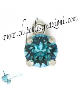 Ciondolo con Chaton Swarovski SS39 Light Turquoise