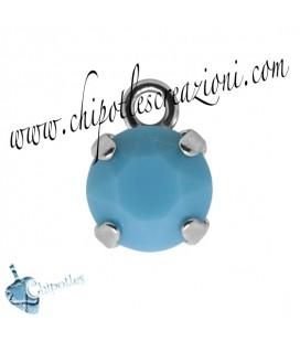 Ciondolo con Chaton Swarovski SS39 Turquoise