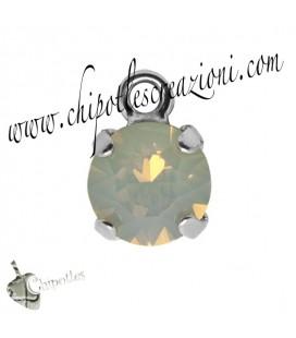 Ciondolo con Chaton Swarovski SS39 Light Grey Opal