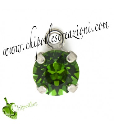 Ciondolo con Chaton Swarovski SS39 Fern Green