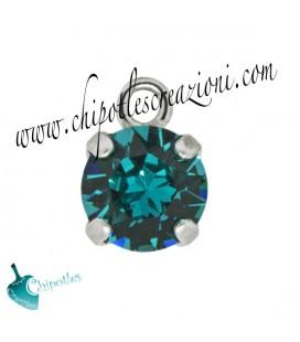 Ciondolo con Chaton SW SS39 Blue Zircon