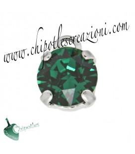 Ciondolo con Chaton SW SS39 Emerald