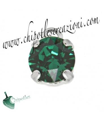 Ciondolo con Chaton Swarovski SS39 Emerald