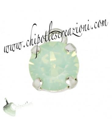 Ciondolo con Chaton Swarovski SS39 Chrysolite Opal