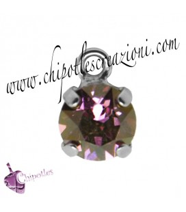 Ciondolo con Chaton Swarovski SS39 Crystal Lilac Shadow