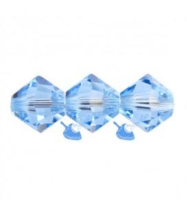 Biconi 6 mm Swarovski® 5328 Aquamarine colore Acquamarina (36 pezzi)