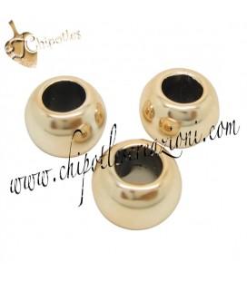 Distanziatore Perla Foro Largo 15x10 mm (Ø 7 mm) Acrilico