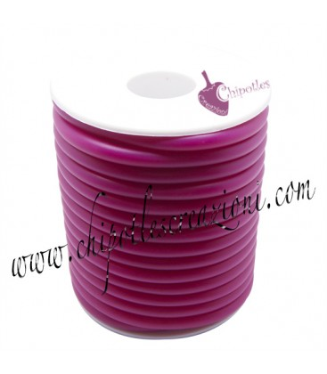 Cordoncino Forato 5 mm Fucsia