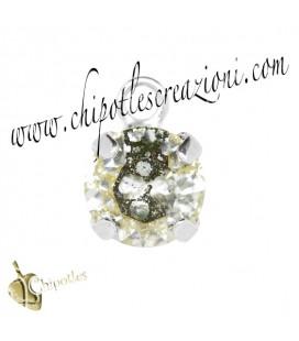 Ciondolo con Chaton Swarovski SS39 Crystal Gold Patina
