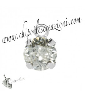 Ciondolo con Chaton SW SS39 Crystal Silver Patina