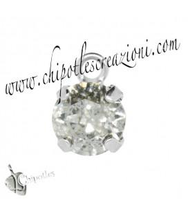 Ciondolo con Chaton Swarovski SS39 Crystal Silver Patina