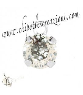Ciondolo con Chaton Swarovski SS39 Crystal Rose Patina