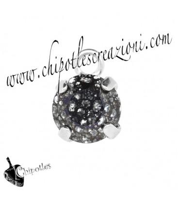 Ciondolo con Chaton Swarovski SS39 Crystal Black Patina