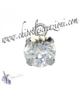 Ciondolo con Chaton Swarovski SS39 Crystal White Patina