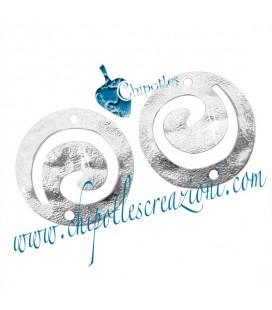 Elemento Tribale Tondo Martellato Spirale 18 mm Ottone Vari Colori