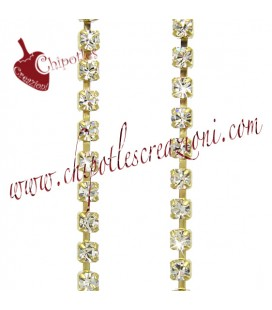 Catena Strass PP14 - 2 mm Crystal (20 cm)