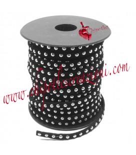 Nastro Alcantara con Borchie 5 mm colore Nero