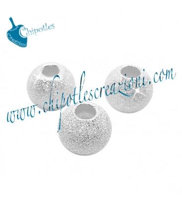 Distanziatore Pallina Diamantata 6 mm Argento 925