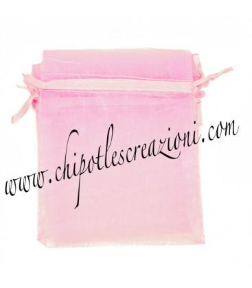 Sacchetto Organza 7x9 cm Rosa
