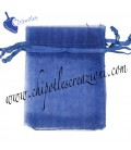 Sacchetto Organza 7x9 cm Blu Scuro