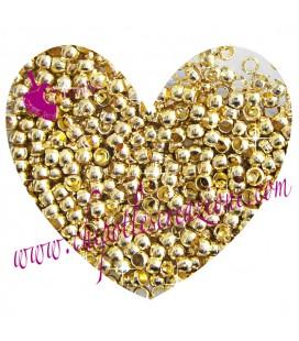 Schiaccini 2 mm Oro (100 pezzi)