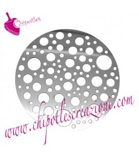 Ciondolo Cerchio Forato 40 mm Acciaio Inossidabile (2 pezzi)
