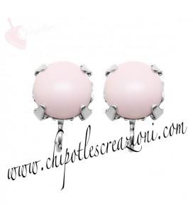 Base Orecchini a Perno con Perla SW 8 mm Pastel Rose Pearl