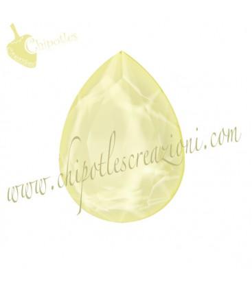 Goccia Swarovski® 4320 18x13 mm Crystal Powder Yellow
