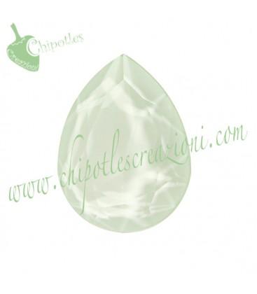 Goccia Swarovski® 4320 18x13 mm Crystal Powder Green