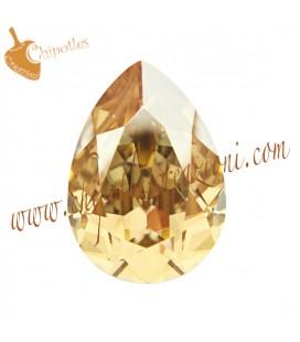 Goccia Swarovski® 4320 14x10 mm Crystal Golden Shadow