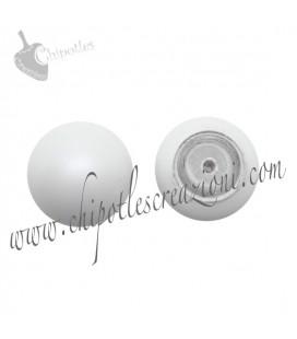 Cabochon Swarovski® 5817 8 mm Crystal Pastel Grey Pearl (10 pezzi)