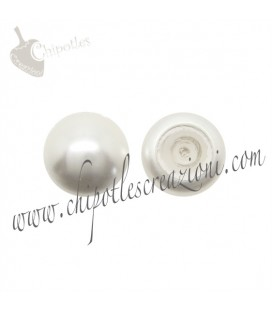 Cabochon Swarovski® 5817 8 mm Crystal White Pearl (10 pezzi)