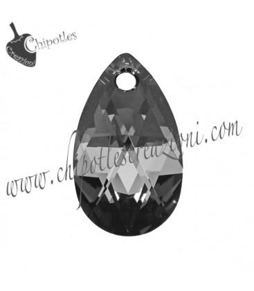 Ciondolo Goccia Swarovski® 6106 16 mm Crystal Silver Night