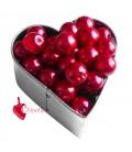 Perle 8 mm Vetro Cerato color Rosso (100 pezzi)