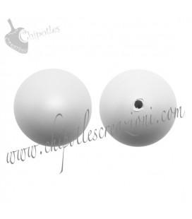 Perle Mezzo Foro Swarovski® 5818 10 mm Crystal Pastel Grey Pearl (10 pezzi)