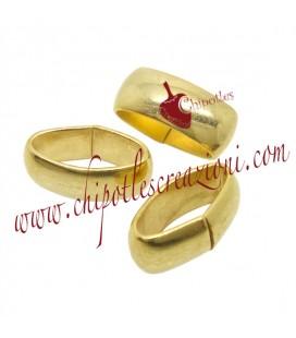 Fascette in Ottone 12x5 mm colore Oro