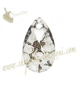 Ciondolo Goccia Swarovski® 6106 16 mm Crystal Gold Patina (2 pezzi)