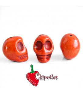 Perla Teschio 18x14 mm colore Arancione