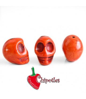 Perla Teschio18x14 mm colore Arancione