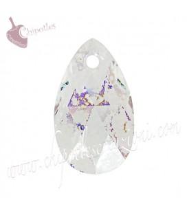 Ciondolo Goccia Swarovski® 6106 16 mm Crystal White Patina (2 pezzi)