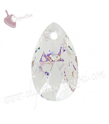 Ciondolo Goccia Swarovski® 6106 16 mm Crystal White Patina