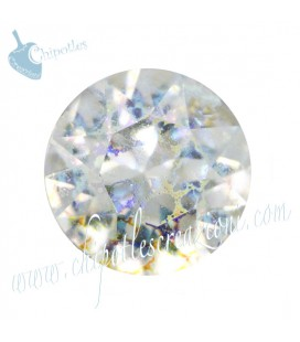 Chaton Swarovski® 1088 SS39 8 mm Crystal White Patina (6 pezzi)