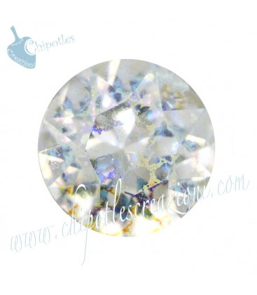 Chaton Swarovski® 1088 SS39 8 mm Crystal White Patina (6 pezzi)