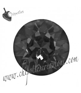 Chaton Swarovski® 1088 SS39 8 mm Crystal Silver Night