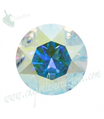 Chaton Swarovski® 1088 SS39 8 mm Crystal Aurora Boreale