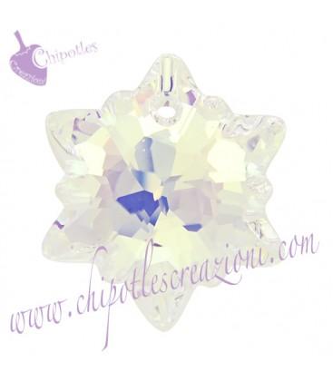 Ciondolo Edelweiss Swarovski® 6748 14 mm Crystal AB