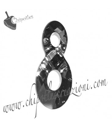 Ciondolo Infinito Infinity Swarovski® 6792 18 mm Crystal Silver Night
