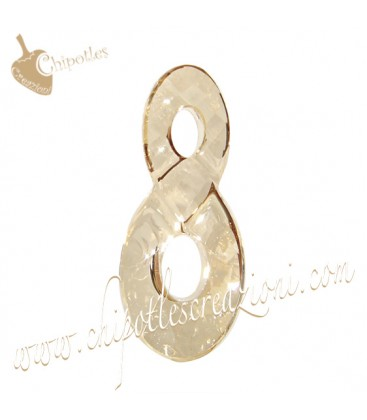 Ciondolo Infinito Infinity Swarovski® 6792 18 mm Crystal Golden Shadow